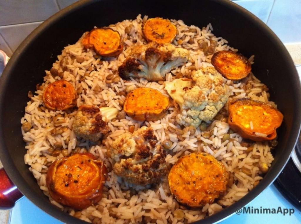 מג'דרה ירקות קלויים 2