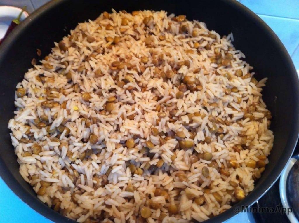 מג'דרה אורז ועדשחים קלאסית