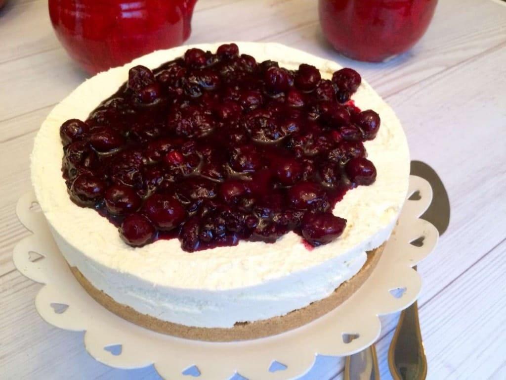 עוגת גבינה טבעונית עם פירות יער - 2