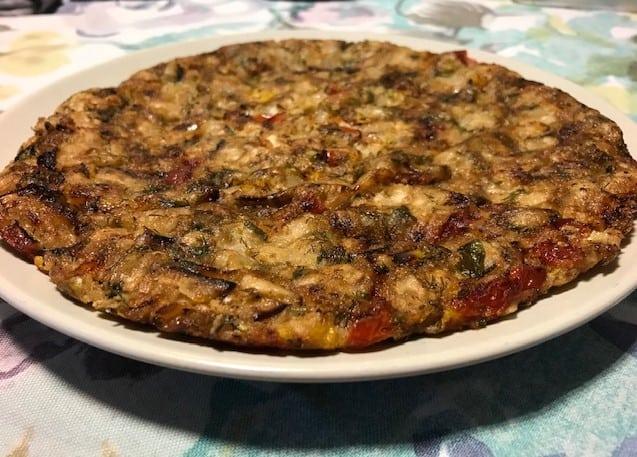 מצה בריי טבעוני עם ירקות
