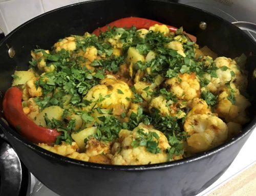 אלו גובי – תבשיל כרובית ותפוחי אדמה מהמטבח ההודי