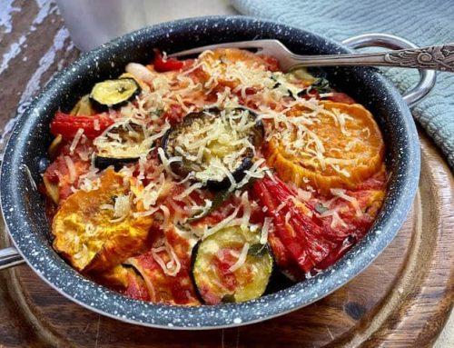 לזניה טבעונית עם ירקות קלויים